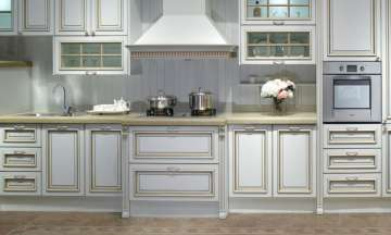 Кухня белая White Cabinet Traditional Thermofoil Modular